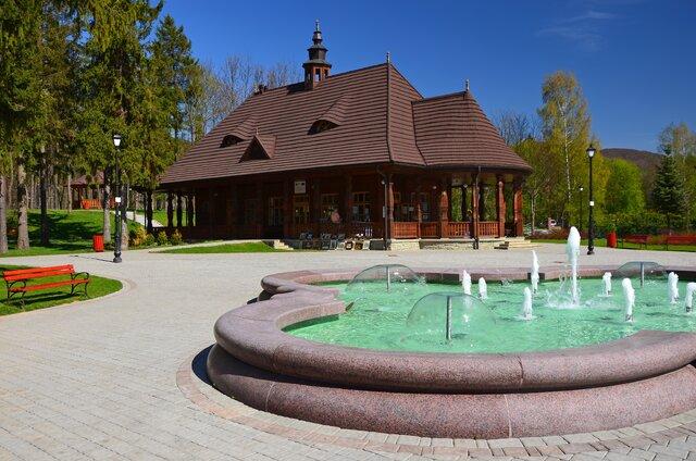 Kúpeľný park Wysowa Zdrój