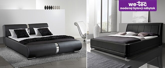 Nádherné koženkové postele