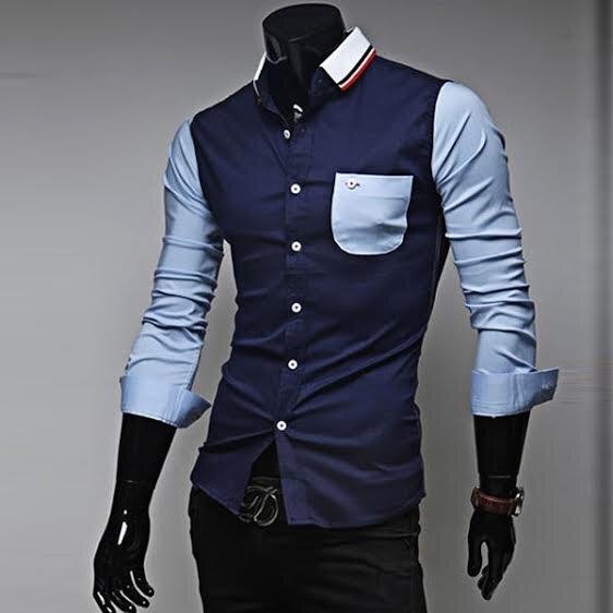 c1f9a6b7c1ac Pánska košeľa Slim-fit s dlhým rukávom ...