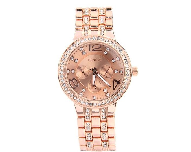 c97a4fed816 Luxusné dámske hodinky s kryštálmi Swarovski Elements v 4 farbách ...