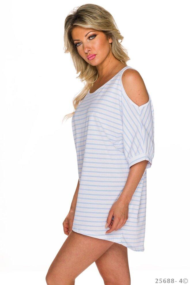 01f7f44df1 Dámsky top Italia Stripes – White-Blue