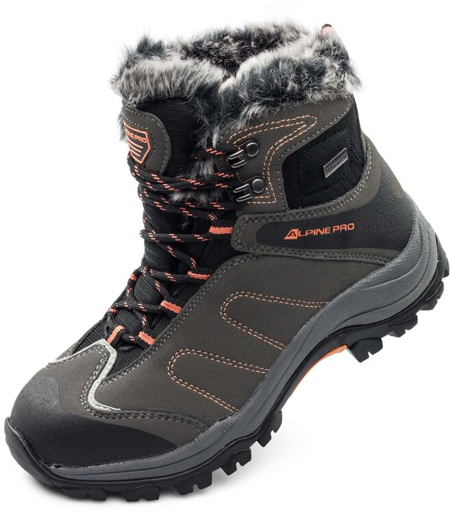 988cb750b739 Dámska zimná obuv Alpine Pro CHONA - sivá farba