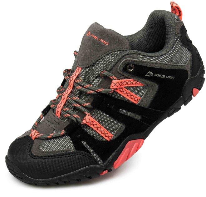 Topánky Alpine Pro Elher výborne poslúžia ako treková obuv pre výlet do  terénu pri prechádzkach po prírode vrátane náročnejšieho terénu. 70be18b6337