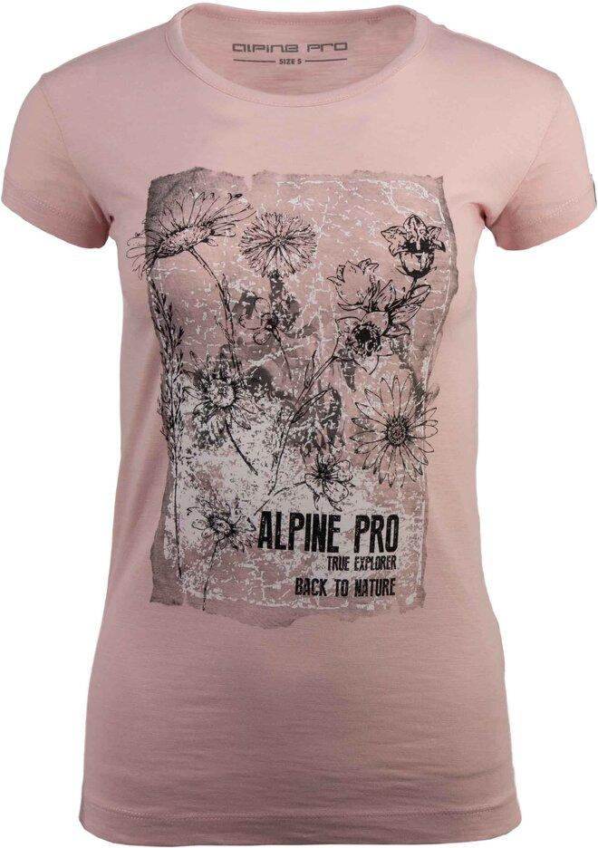 89202db6dc19 Dámske tričká Alpine Pro s nápismi aj vzorom