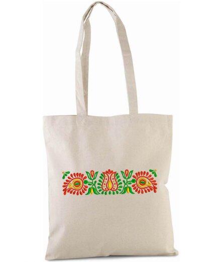 Pevná nákupná taška s folklórnou výšivkou (vzor 03)