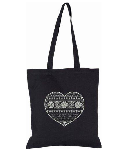 Pevná nákupná taška s folklórnou výšivkou (vzor 13 T1)