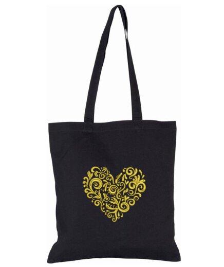Pevná nákupná taška s folklórnou výšivkou (vzor 17 T1)