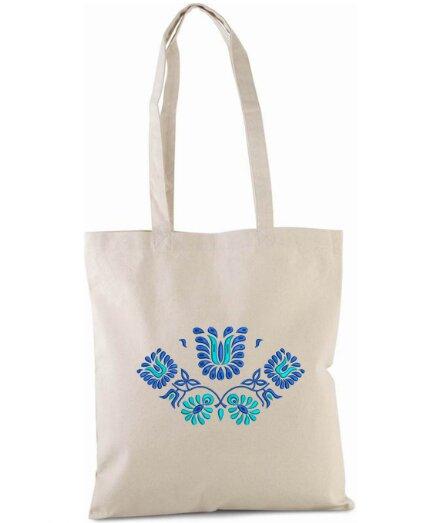 Pevná nákupná taška s folklórnou výšivkou (vzor 02)
