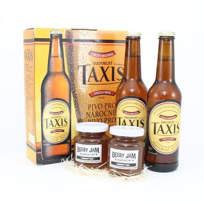 Darčekové balenie pív a džemov TAXIS