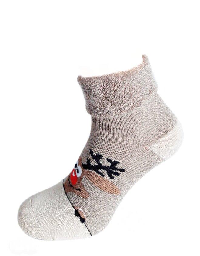 Bláznivé dámske froté ponožky Veselý sob