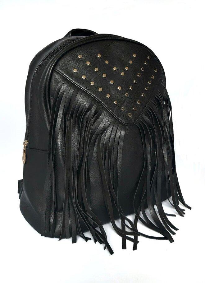 Dámsky elegantný ruksak so strapcami (model 1509)