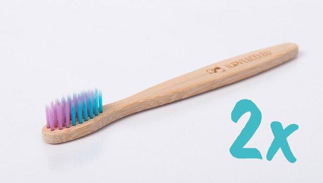 2 x Detská bambusová zubná kefka KIDS EDITION (jemné)