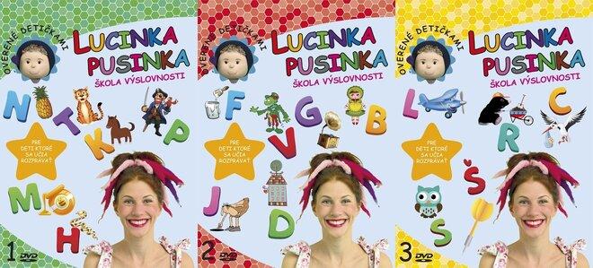 3 x DVD Lucinka Pusinka 1, 2, 3