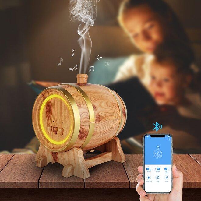 350 ml Difúzer Barrel Wifi - Svetlý + Éterický olejček