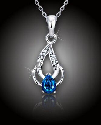 "Elegantný náhrdelník ""Blue Flame"""