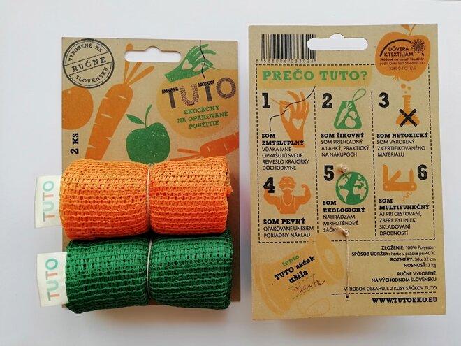 2 x TUTO ekosáčky (oranžová + zelená)