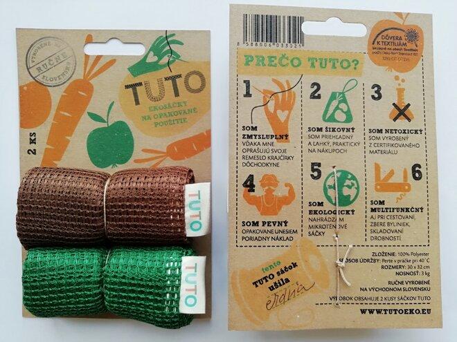 2 x TUTO ekosáčky (zelená + hnedá)