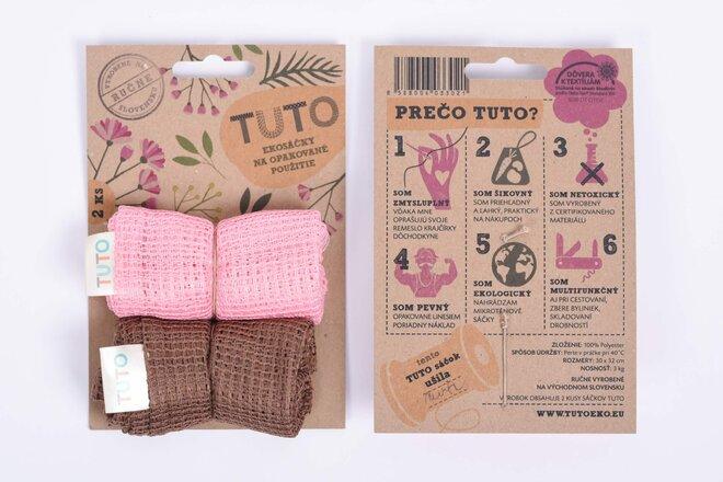 2 x TUTO ekosáčky (ružová + hnedá)