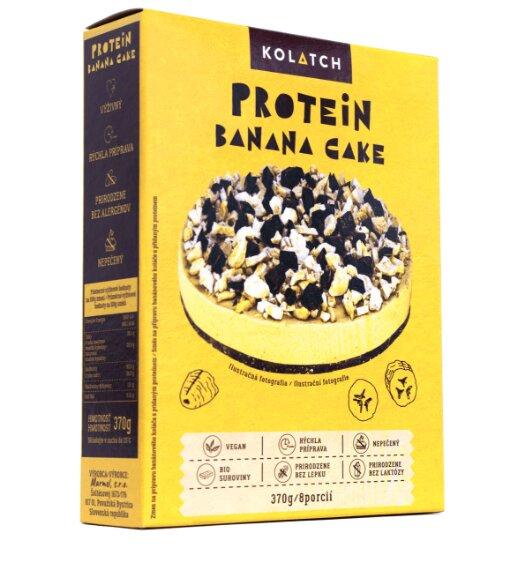 Kolatch – Protein Banana Cake, sypká zmes na prípravu banánového, nepečeného koláča s pridaným proteínom