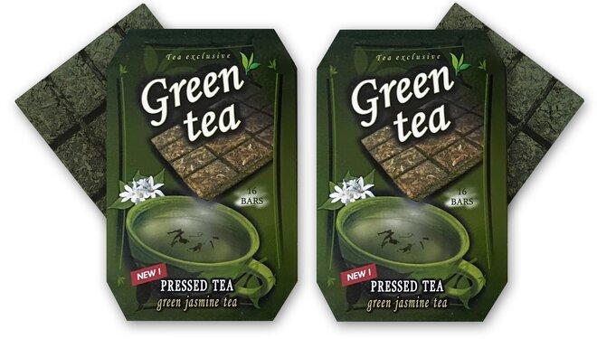 2 x 70 g Čaj v tvare čokolády (zelený čaj s jazmínom)