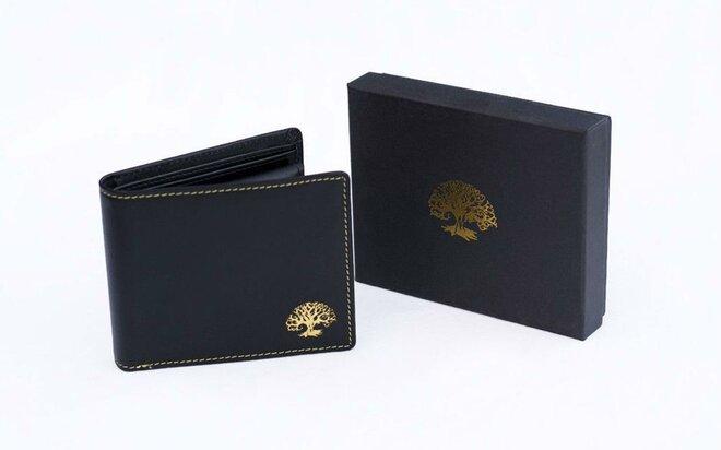 Kožená peňaženka s ochranou osobných údajov BLACK & GOLD
