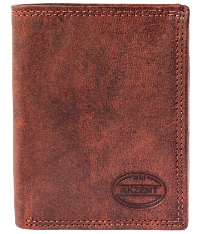 Pánska peňaženka AKZENT RFID hnedá na výšku