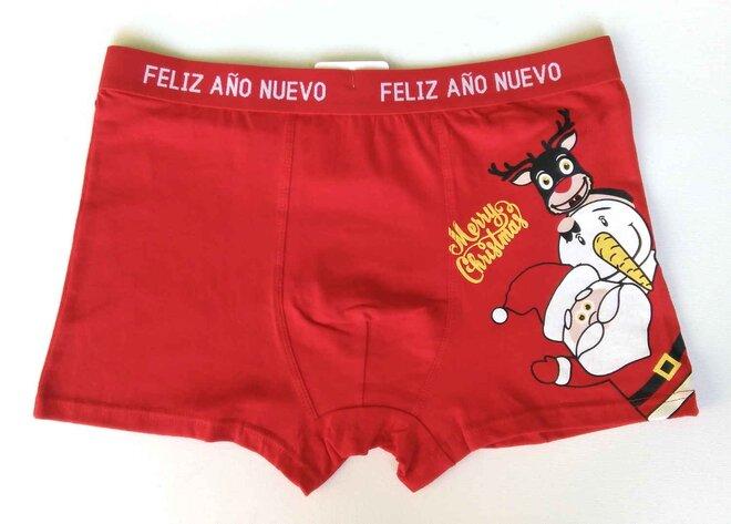 Pánske vianočné boxerky (mikuláš)