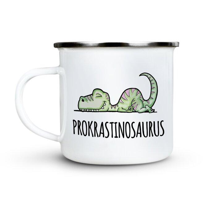 300 ml Plechový hrnček (Prokrastinosaurus)