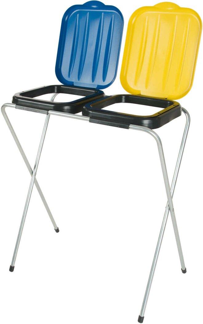 2 x 120 l Stojan na odpadkové sáčky (žltý + modrý)