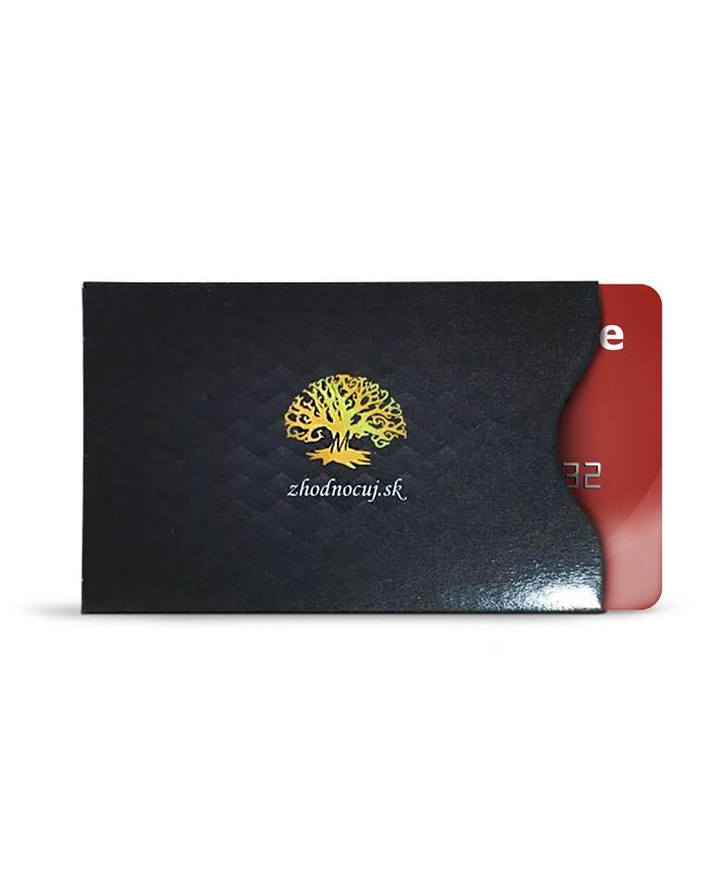 1 ks Ochrana kreditnej karty RFID (čierna farba)