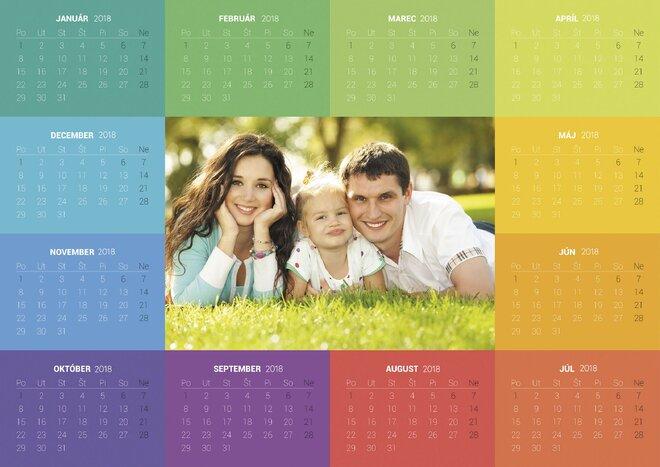 Fotokalendár POSTER do A2 nástenný ročný (1 list, do cca 42 x 59,4cm)