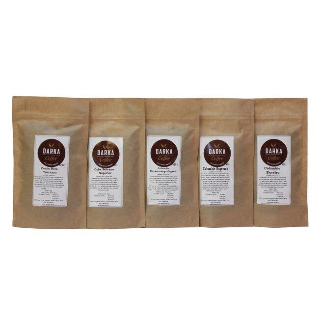 5 x 50 g Kávové degustačné menu Americana