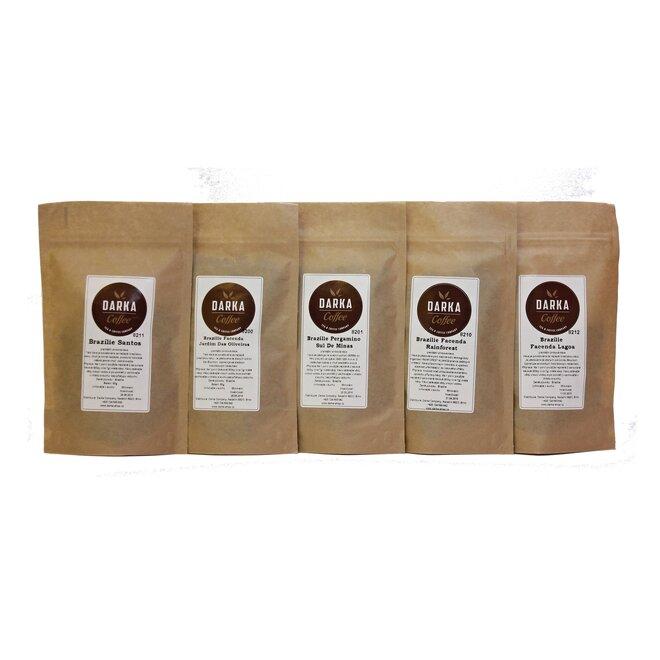 5 x 50 g Kávové degustačné menu Brazília