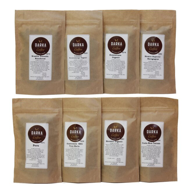 8 x 50 g Kávové degustačné menu (De Luxe)