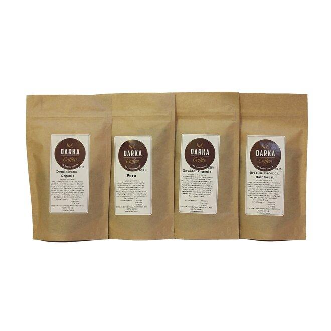 4 x 50 g Kávové degustačné menu Organic