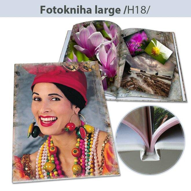 Fotokniha H18 - formát A4, pevná väzba spevnená sponami (104 strán)