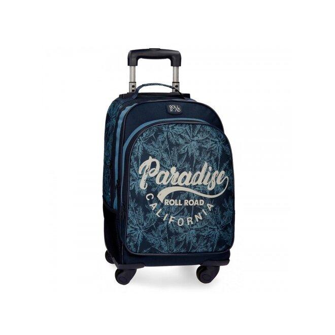 Školský alebo cestovný batoh na kolieskach PARADISE 2 (4 otočné kolieska)