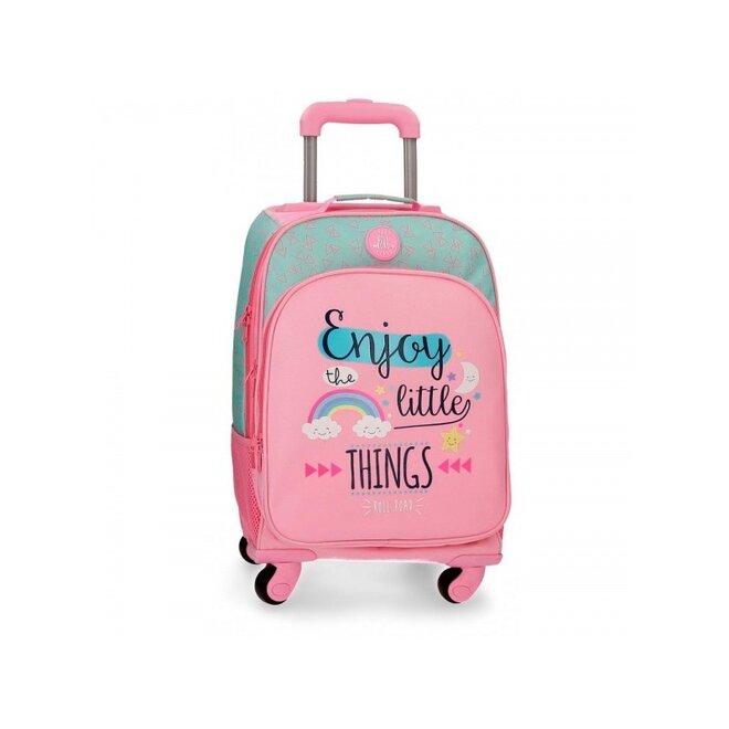 Školský alebo cestovný batoh na kolieskach ENJOY (4 otočné kolieska)