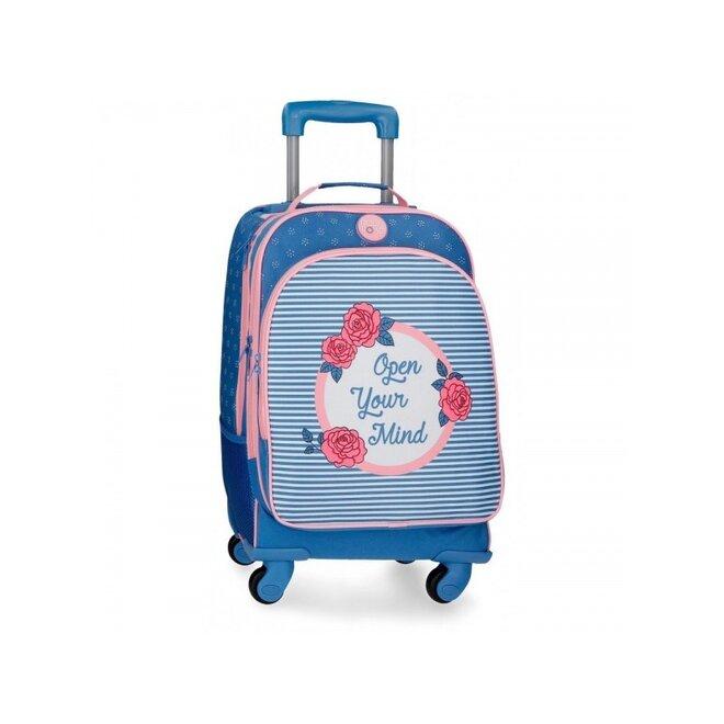 Školský alebo cestovný batoh na kolieskach ROSE (4 otočné kolieska)