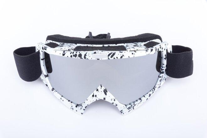KAŠMIR Ride - White / black dots