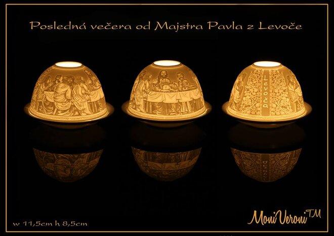 Porcelánový svietnik (Levoča - posledná večera)