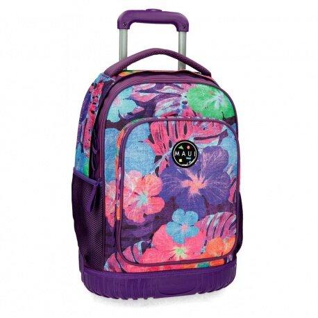 Školský alebo cestovný batoh na kolieskach MAUI VIOLET
