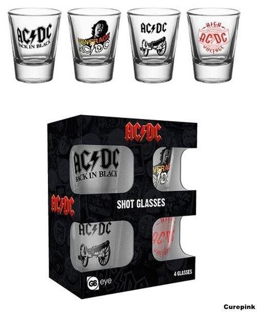 4 poháriky AC/DC
