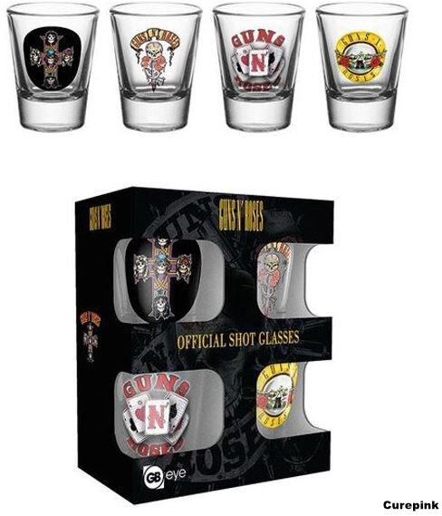 4 poháriky Guns N' Roses