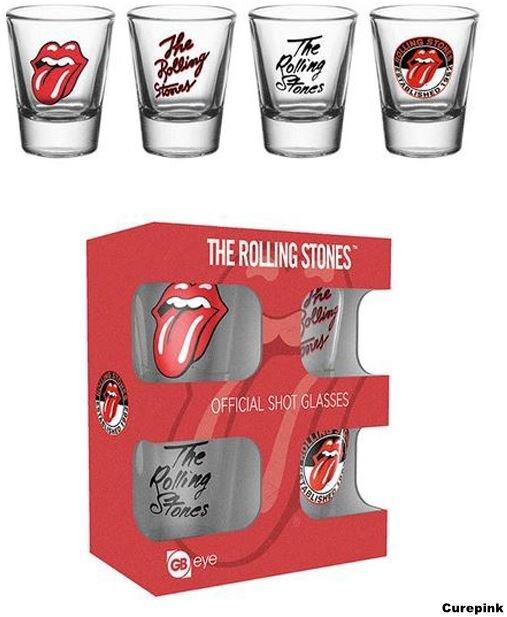4 poháriky The Rolling Stones