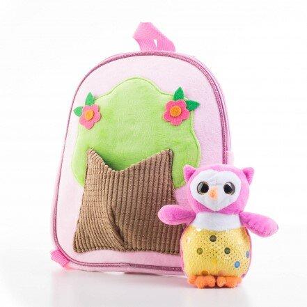 Detský batoh s plyšovou sovičkou