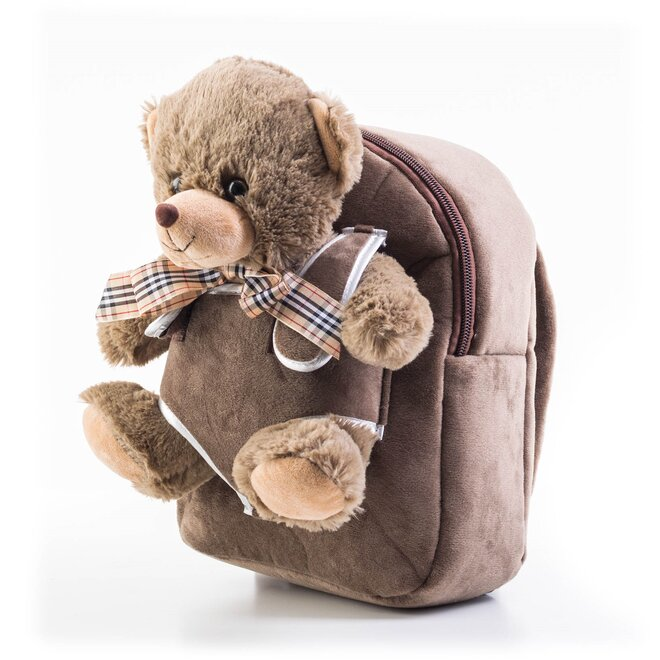 Detský batoh s plyšovým medvedíkom