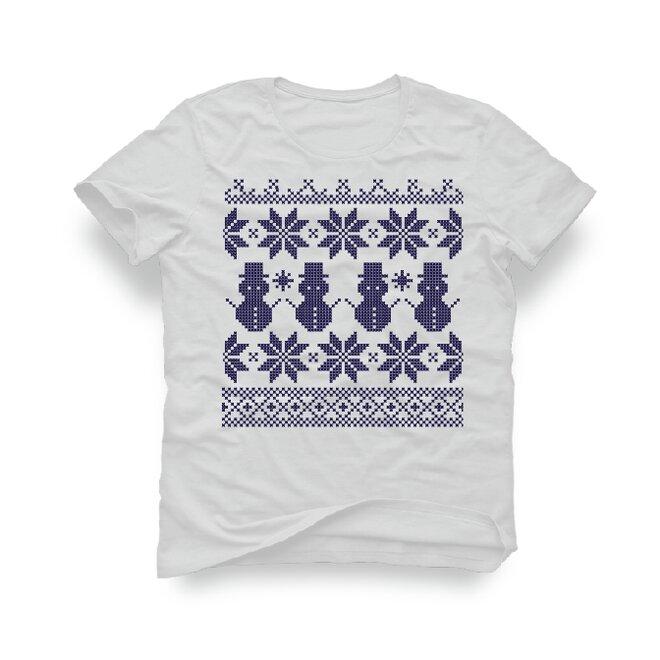 Pánske tričko s nórskym vzorom Snehuliak