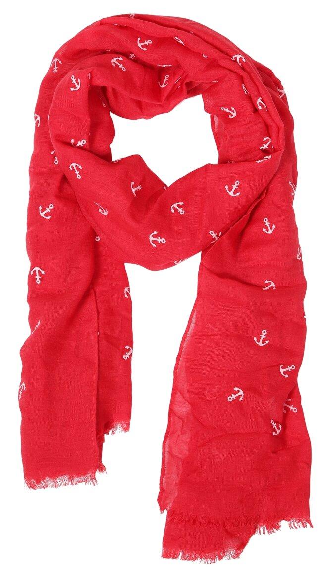 Elegantná dámska šatka červená