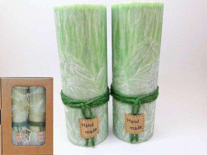 Darčekové balenie ekologických palmových sviečok D01 (zelená)